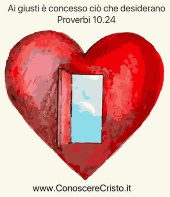 Ai giusti è concesso ciò che desiderano - Meditazione in Audio gratuito sulla Bibbia della Chiesa Evangelica Apostolica nel Nome di Gesù  tratta da  Proverbi 10:24