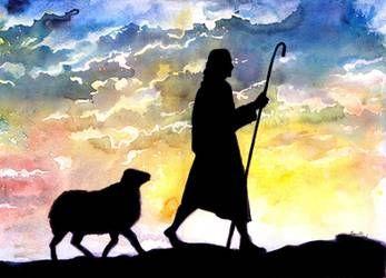 """""""L'Andare dietro Cristo"""" -Breve Meditazione Sulla Bibbia della Chiesa Evangelica Apostolica nel Nome di Gesù tratta da  Giovanni 10:4"""